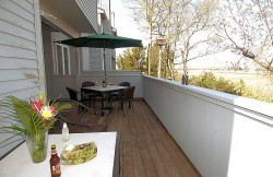 Oversized deck with great meadow views